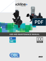 USE AND MAINTENANCE MANUAL OBL DOSING PUMP M_ME