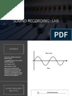 sound recording lab