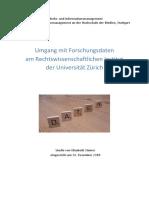 Umgang Mit Forschungsdaten Am Rechtswissenschaftlichen Institut Der Universität Zürich v1.1