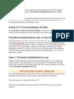 Procedure Laws
