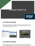 film edit write-up