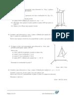 Equações de Retas e Planos - Itens de Provas Nacionais - Enunciados (Mat.absolutamente.net)