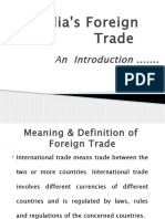 1 India Foreign Trade Feautres