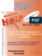 Updated Solved Past Papers of Eye by Med Com