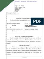 Koninklijke Philips v. Tectron Int'l - Complaint