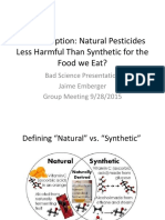 Natural Pesticides Less Harmful Than Synthetic for the Food we Eat?
