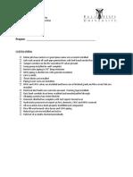 MEP FP Inspection Checklist