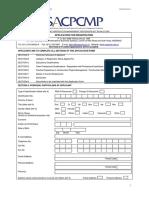 Application Form for Construction Management and Construction Project Management Registration