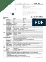 SDR-75-SPEC