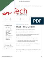 FAST – IMEI Control _ OpTech Informatik