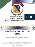 Actividad complementaria No. 1 Pablo Boyaca diseño geometrico de vias.pptx