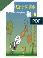 animaladaptationssciencevocabularybingogameprintable
