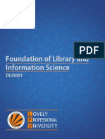 Foundation of Library and information science