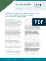 Prognostizierter Anteil fortschrittlicher Kraftstoffe bei der Erreichung der deutschen RED II-Ziele 2030