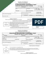 PEPT Form 1