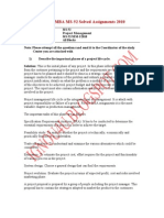 Copy of IGNOU MBA MS-52 Solved Assignments 2010