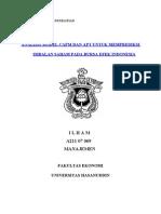 Analisis Model CPAM Dan Model APT Dalam Memprediksi Return an Di Bursa Efek Indonesia