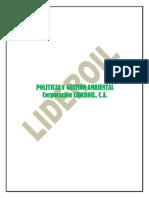 1.2 Politicas y Gestion Ambiental LIDEROIL