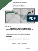 estudio de suelos para una urbanizacion privada