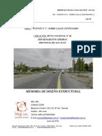 Calculo Puentes Ruta 40 (San juan)