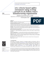 Forty Criteria Based Agility Assessment - Indian Relay