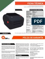 Ficha Tecnica Impresora de Etiquetas DAIMA