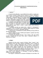 A EXPERIÊNCIA DO SAGRADO E A INSTITUIÇÃO DA RELIGIÃO.doc