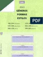 Tema 2. Géneros, Formas, Estilos