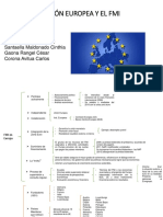 Union Europea y El FMI