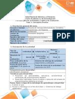 Guía de Actividades y Rúbrica de Evaluación - Fase 1 - Conceptos Previos