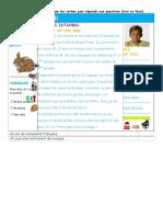 Comprehension Ecrite Comprehension Ecrite Texte Questions 112501