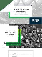 Design of Screw Fastening