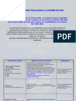 Modificaciones ISO 9001-2008