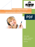 UFCD_0633_Comunicação Empresarial Presencial e Telefónica_índice