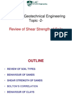 Topic 2 - Review of Soil Mechanics