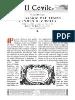 Il Passaggio Del Tempo e Carlo m. Cipolla