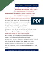 Notes- Simple Present Que.y or n