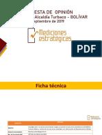 Encuesta sobre intención de voto en Turbaco - Septiembre 2019
