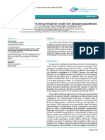 Design and Analysis of Clinical Trials for Small Rare Disease Populations Raredis 1 1054