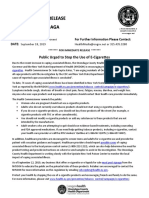 E-Cigarettes Advisory, 9-18-19