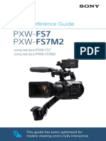 SonyFS7 operating manual