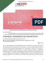 Streaming Una Herramienta de Comunicación
