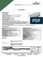 1K-LDPR220 - Dustproof 2x20w T8 LED