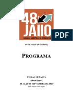 Programa 48 JAIIO 060919