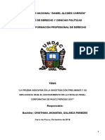La Prueba Indiciaria en La Investigación Preliminar