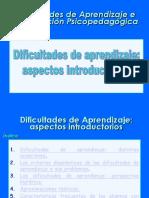 Presentacion Dificultades de Apendizaje