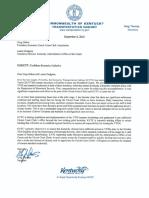 Confident Kentucky Initiative Letter