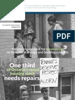 ACORN Tenant Engagement Report - Retrofits