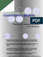 Concentración y disoluciones