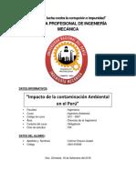 Impacto de La Contaminación Ambiental en El Perú-Ing. Ambiental